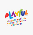 playful childish style font vector image vector image