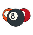pool eight ball icon image vector image vector image