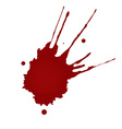 Realistic blood splatters vector image