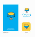 round table company logo app icon and splash page vector image vector image