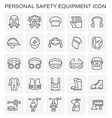 safety equipment icon vector image vector image