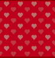 seamless knitted background with hearts vector image vector image