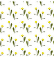 seamless pattern with dandelions vector image vector image