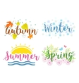 seasons lettering isolated on a white vector image vector image