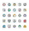 SEO and Internet Marketing Cool Icons 2 vector image vector image