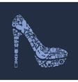 shoe icon vector image vector image