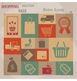 Shopping Flat Retro Icons vector image vector image