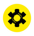silhouette of a gear flat pixel tool icon vector image vector image