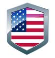 silver shield vector image