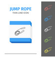 simple line stroked jump rope icon vector image