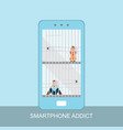 smart phone prisoner and addiction concept vector image vector image