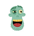 smiling zombie head avatar in cartoon style vector image vector image