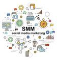 social media marketing vector image vector image