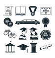 students graduation party in monochrome style vector image
