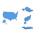 usa isometric map country isolated on a white vector image vector image