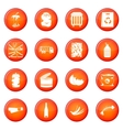 Waste and garbage icons set vector image vector image