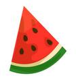 watermelon slice icon cartoon style vector image vector image