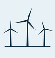 wind turbine icon wind power energy vector image vector image