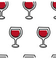 wine in glass alcohol drink seamless pattern vector image vector image