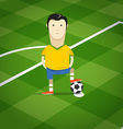 World soccer championship in Brazil vector image vector image
