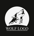 head howling wolf on moon vector image