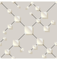 seamless pattern with silver squares vector image