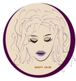 Logo Hairstyle CARD FOR BEAUTY SALON IN vector image