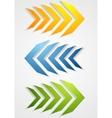 Abstract bright arrows vector image vector image