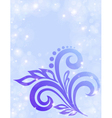 Abstract floral background in pastel colors vector image vector image