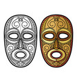 african mexican aztec tribal mask isolated on vector image vector image