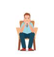 anxious man feeling sadness and stress sitting