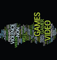 are video games good a non gamer s perspective vector image vector image