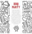 barbecue page design vector image vector image