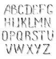 black letters english alphabet vector image