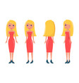blonde pretty women in stylish outfits all sides vector image vector image