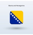 Bosnia and Herzegovina flag icon vector image vector image
