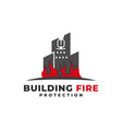 building fire protection logo vector image vector image