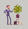 business dividends grow vector image vector image