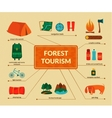 Camping equipment infographics vector image