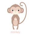 card with cute monkey vector image