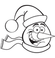 Cartoon Snowman Head vector image