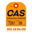 casablanca airport luggage tag