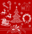 Christmas Doodles2 vector image vector image