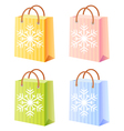 Christmas shopping bag vector image vector image