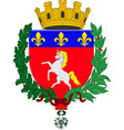 coat of arms of saint-lo in normandy is a region vector image vector image