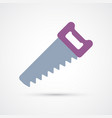 colored saw trendy symbol vector image vector image