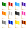 colorful flags isolated on white vector image vector image