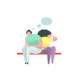 couple man and woman quarrel problem flat concept vector image