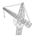 crane construction equipment industry vector image