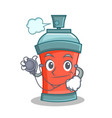 doctor aerosol spray can character cartoon vector image vector image